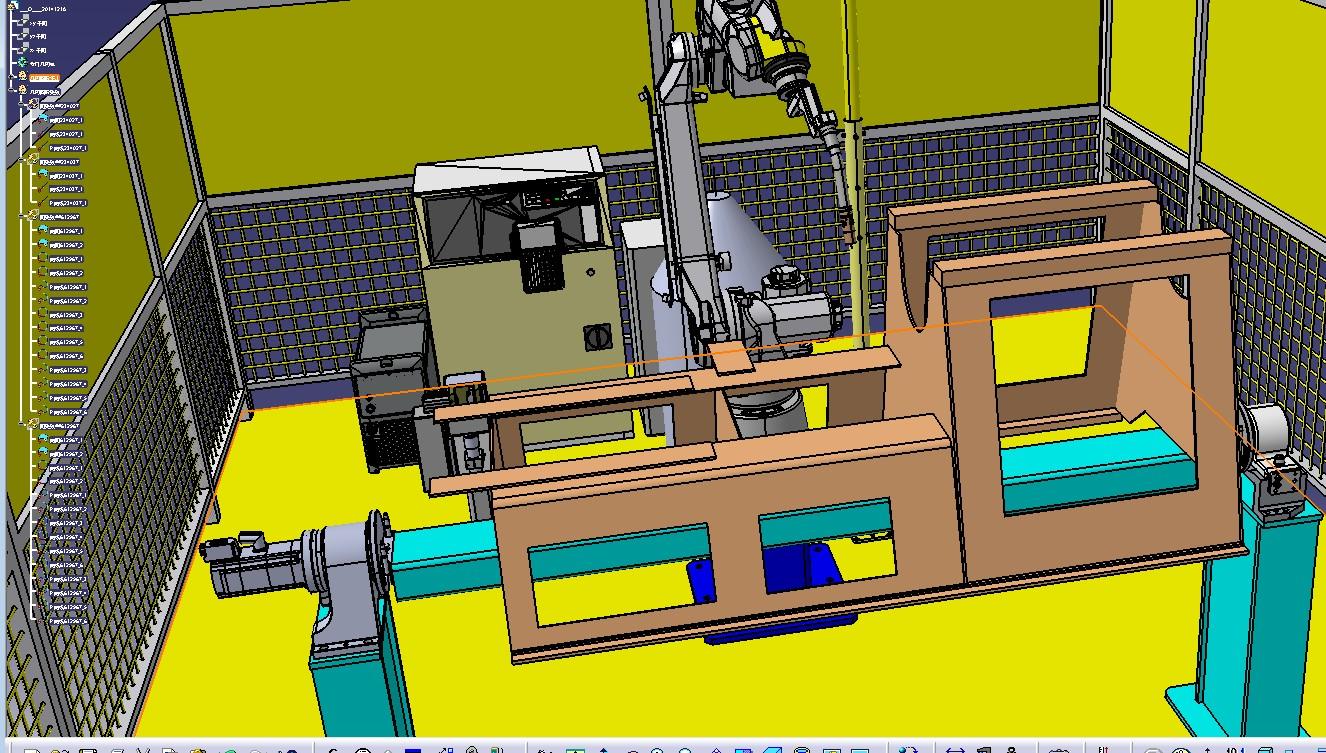 探矿机械机架体机器人焊接工作站3D数模图纸 IGS格式