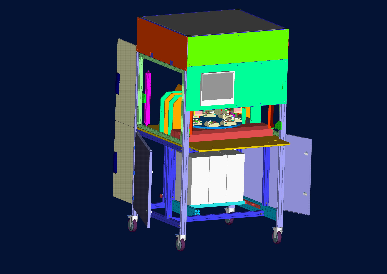 PCB检测设备3D数模图纸 STP格式