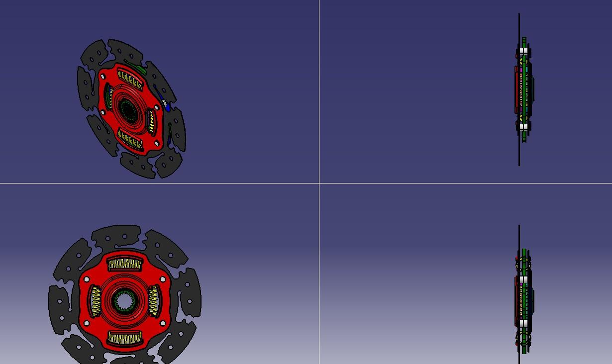 离合器扭转减振器3D模型图纸 CATIA设计