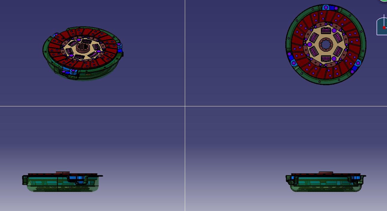 膜片弹簧离合器3D模型图纸 CATIA设计