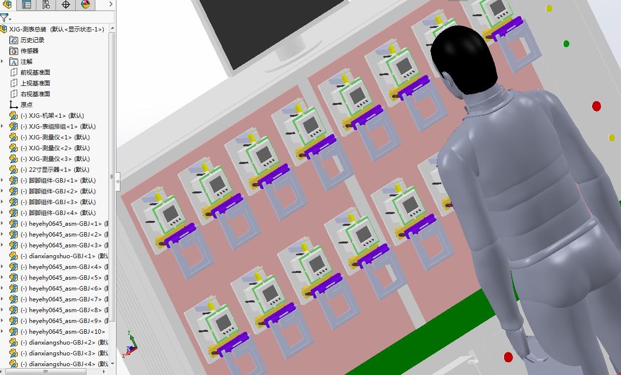 仪表测试机柜3D模型图纸 Solidworks设计