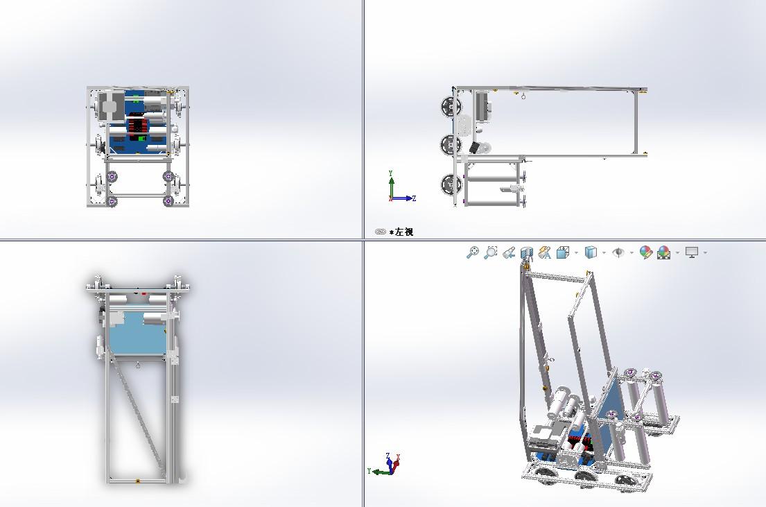 FRC2018 3834号机器人车三维建模图纸 x_t格式