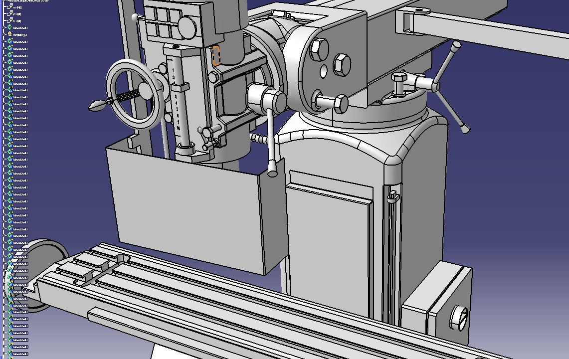 立式磨床3D模型图纸 IGS格式