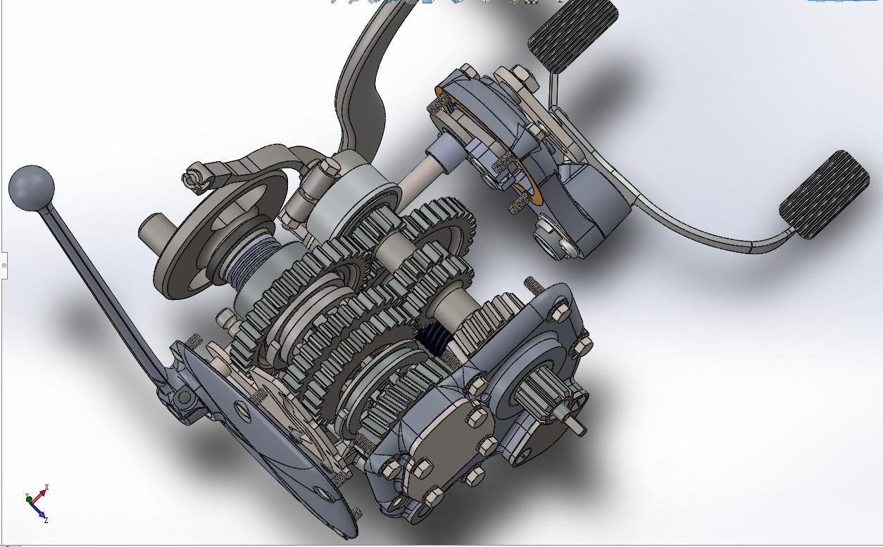 M72摩托车变速箱3D模型图纸 Solidworks设计