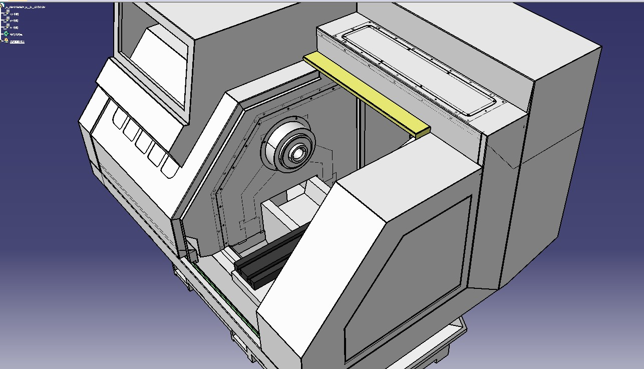 机床钣金设计3D模型图纸 IGS格式