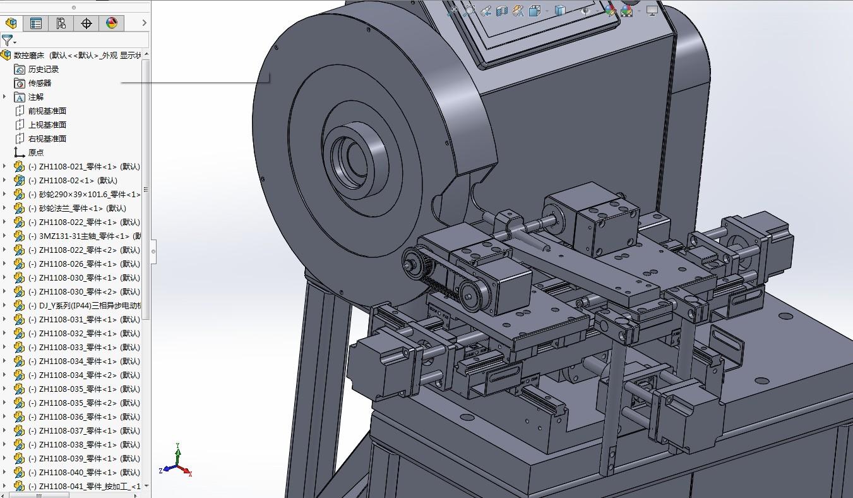 数控磨床3D模型图纸 Solidworks设计 STEP格式