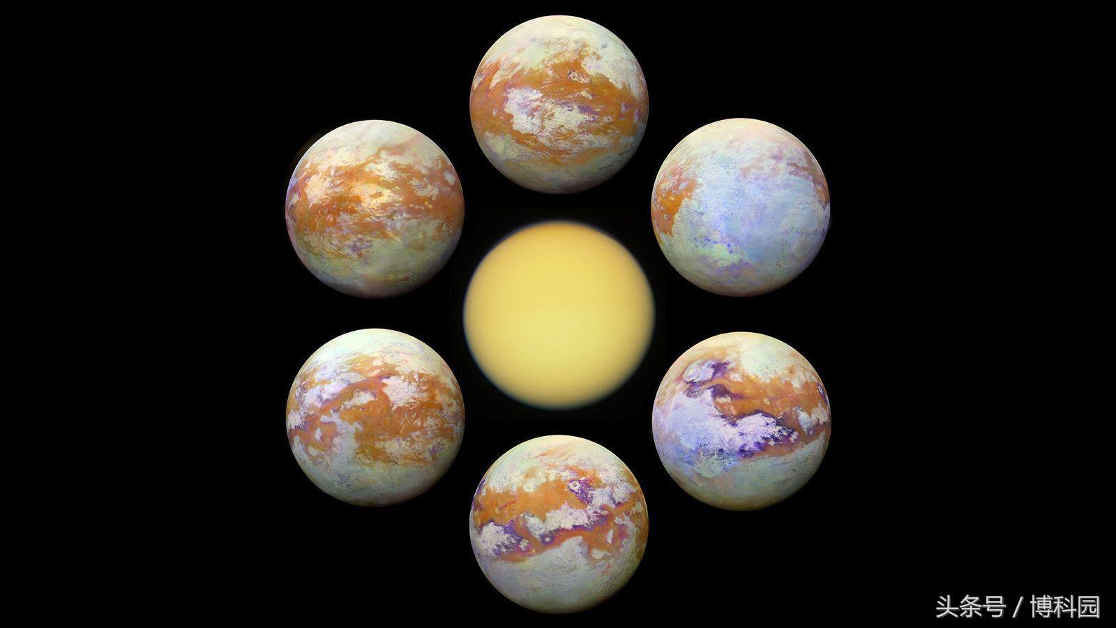 """迄今最清晰图像!红外波段的土星卫星""""泰坦"""""""