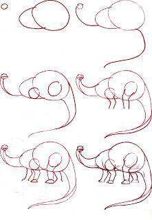 恐龙详细的简笔画教程
