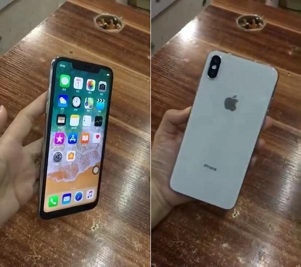高仿iPhone X Plus亮相深圳市,网民:这不是小米8?