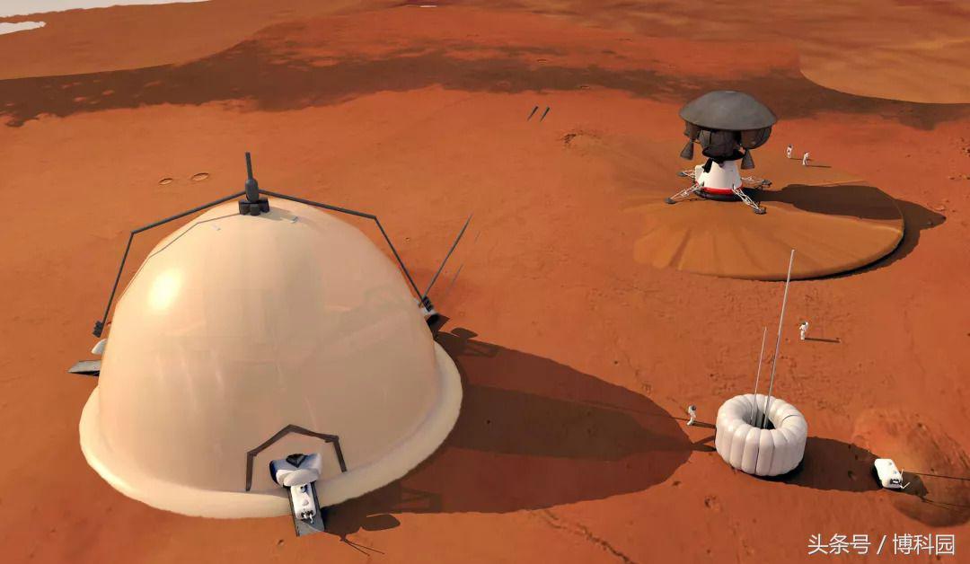 """火星探险者可住在靠近火星北极的""""冰屋""""里"""