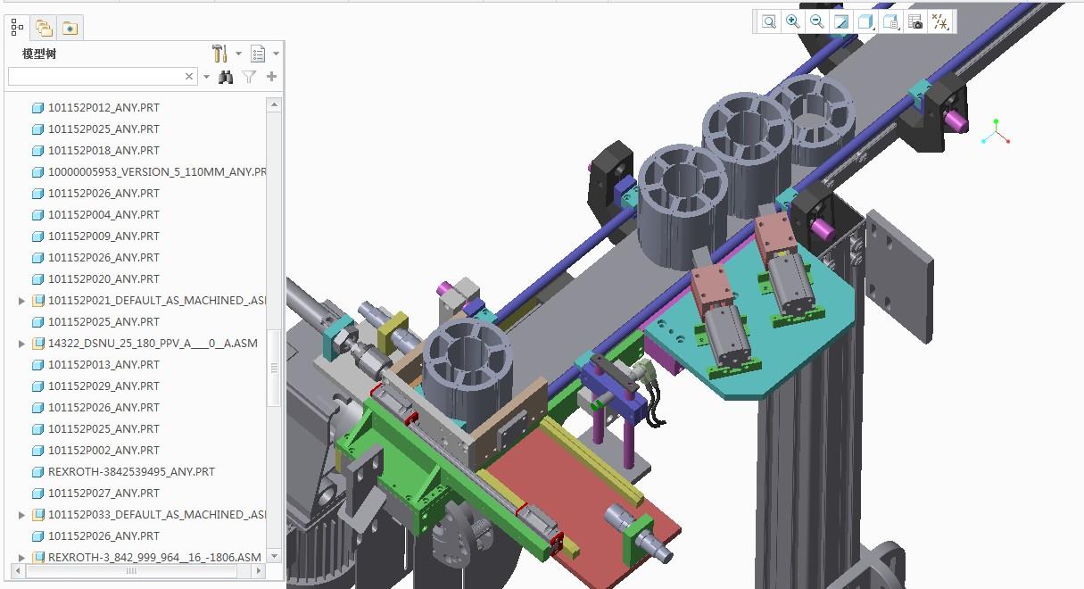 轴承输送阻挡分料机构3D图纸 CREO设计 附STEP