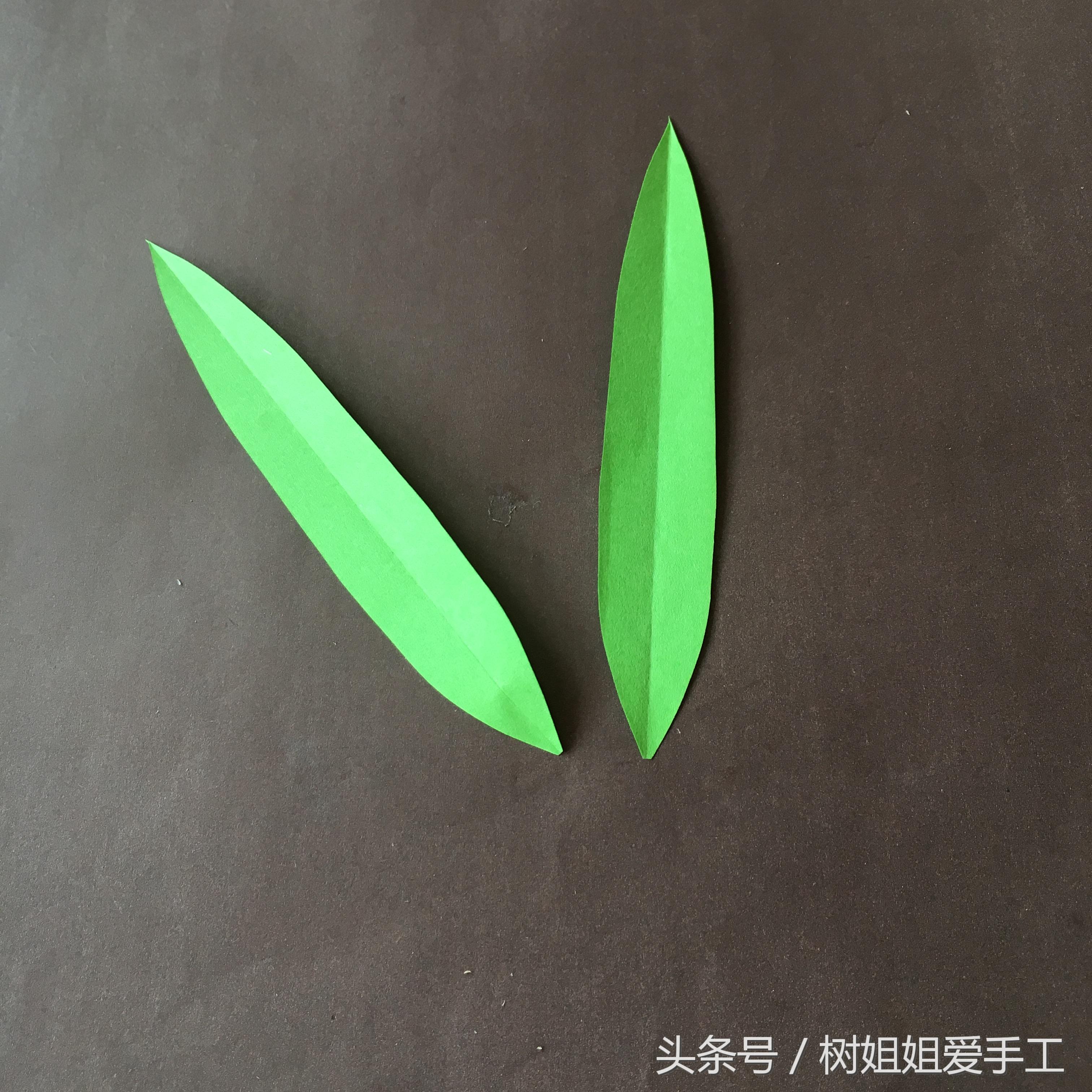 百合花A4折纸花艺教程