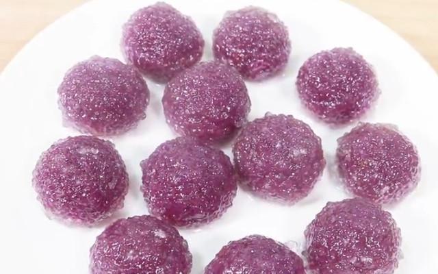 紫薯水晶球做法步骤图 蒸一笼都不够吃!