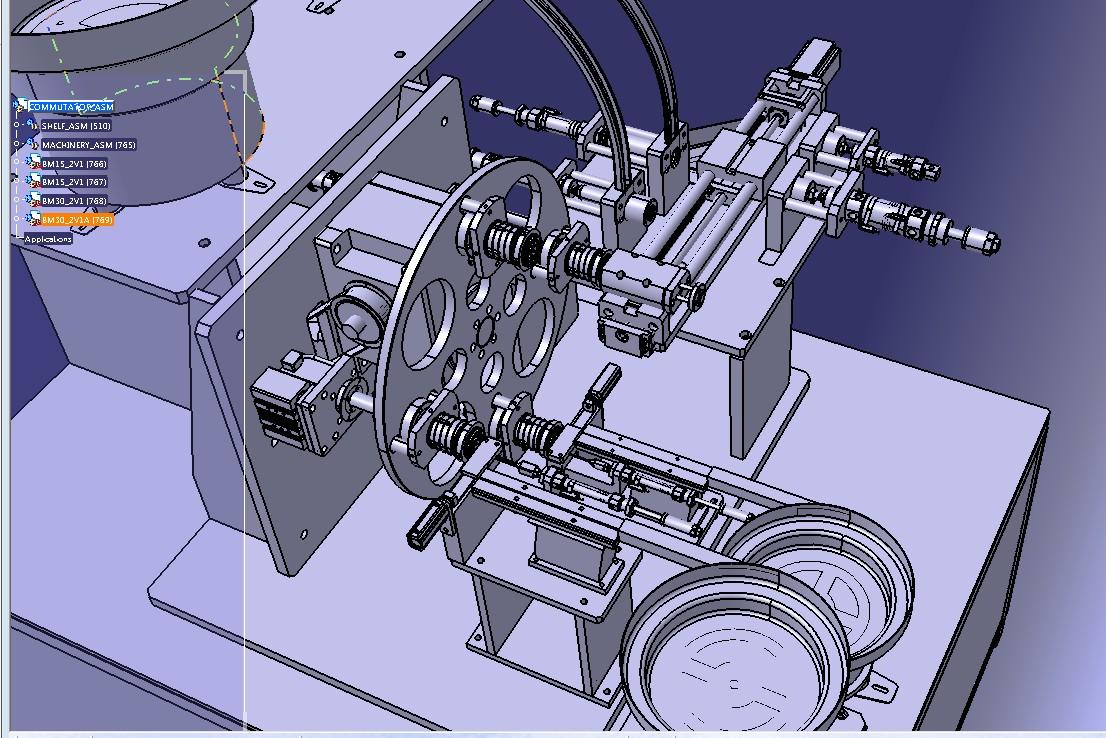 直流电机换相器组装设备3D图纸 STP格式