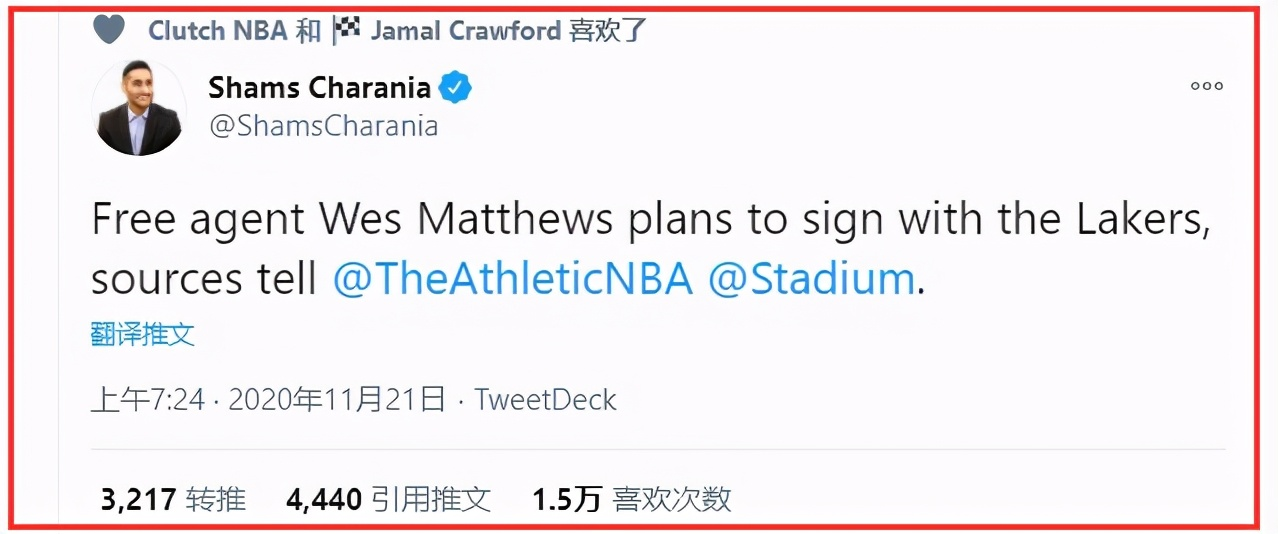 恭喜湖人!格林替身終於找到,Matthews一年360萬加盟,詹眉再迎幫手!-黑特籃球-NBA新聞影音圖片分享社區