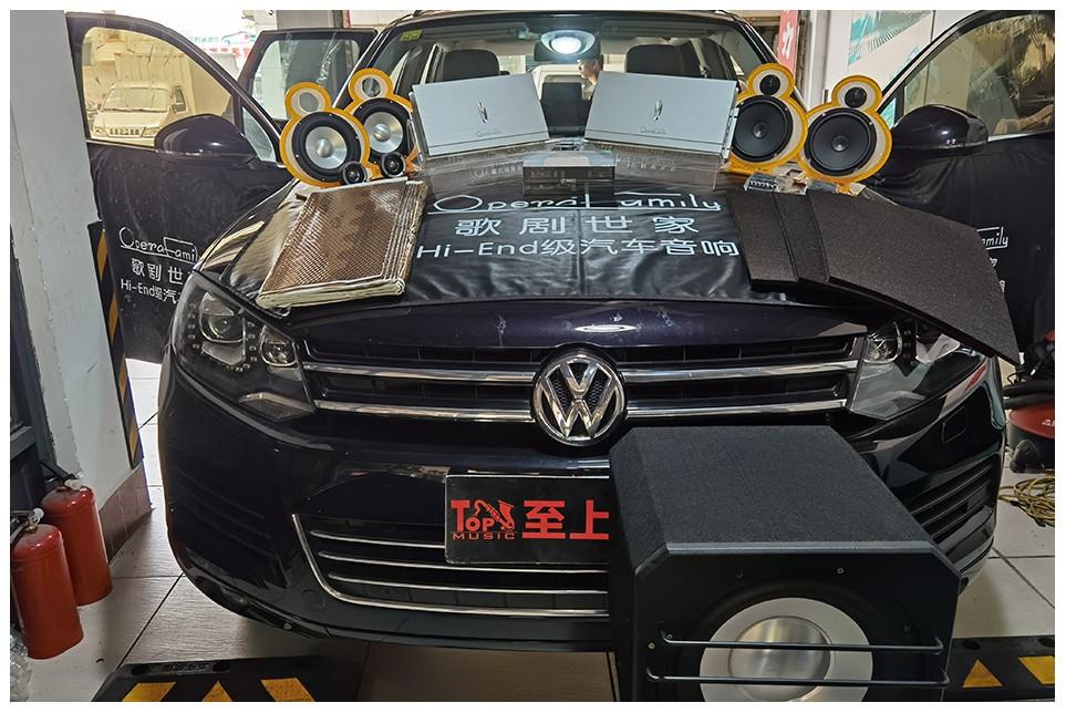 豪华SUV硬核改装,造就大众途锐车轮上的音乐盛典