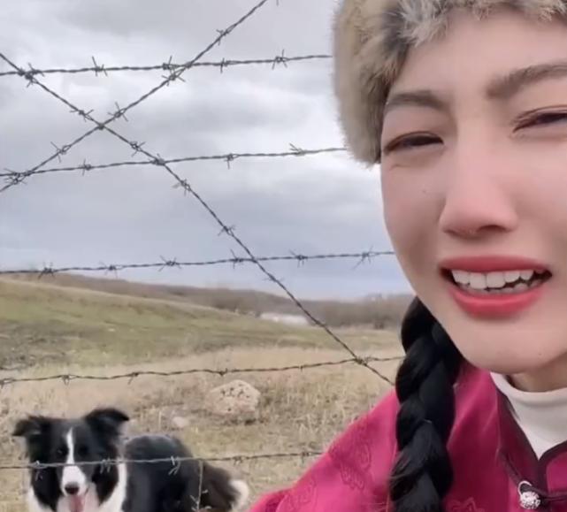 内蒙古一姑娘遛边牧遛到俄罗斯,网友:一不小心出了趟国