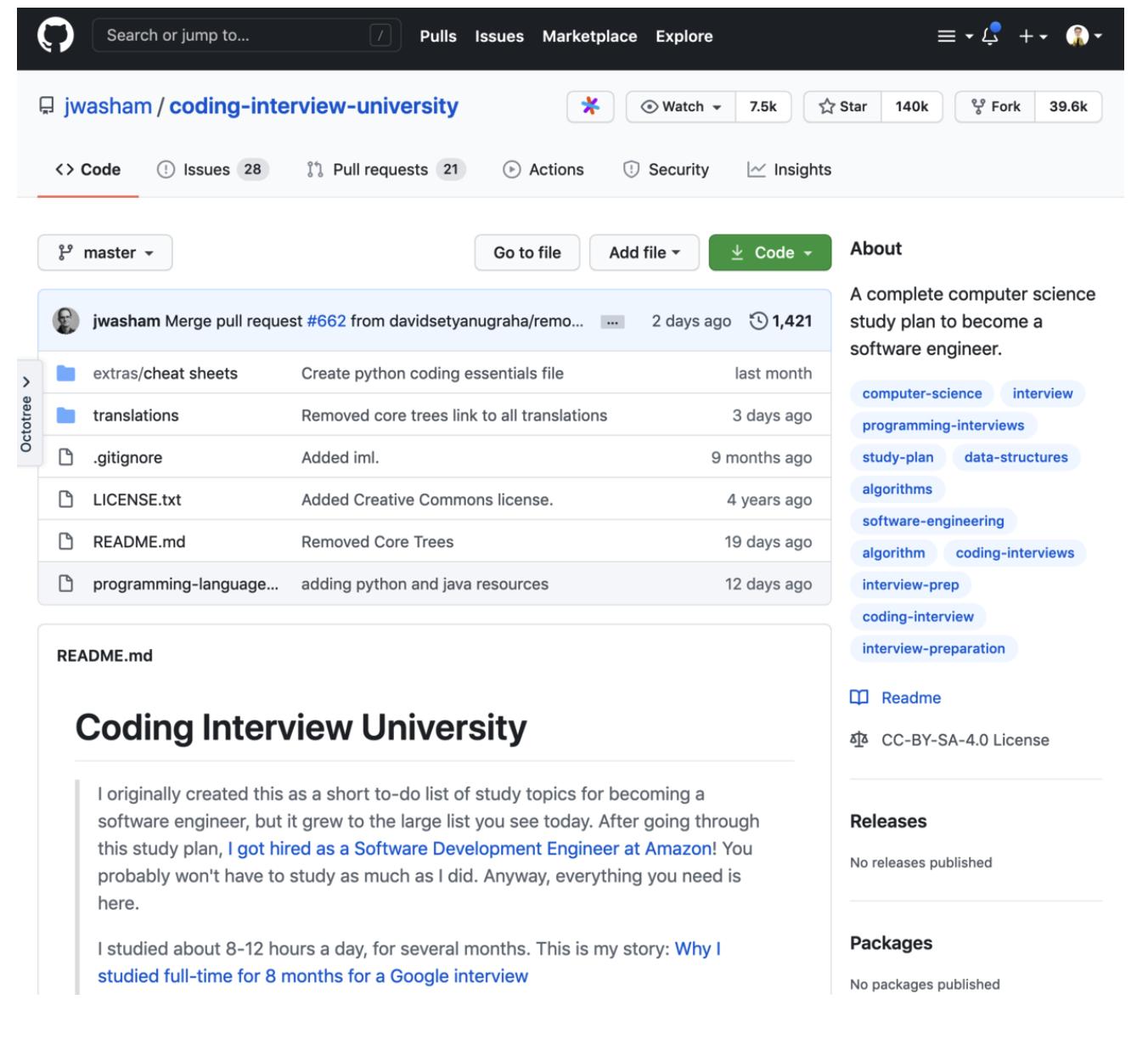 GitHub上最励志的计算机自学教程(重制版)