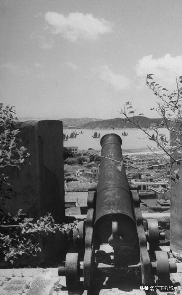 1948年澳门老照片,70年前的澳门要塞、永隆银号及街景