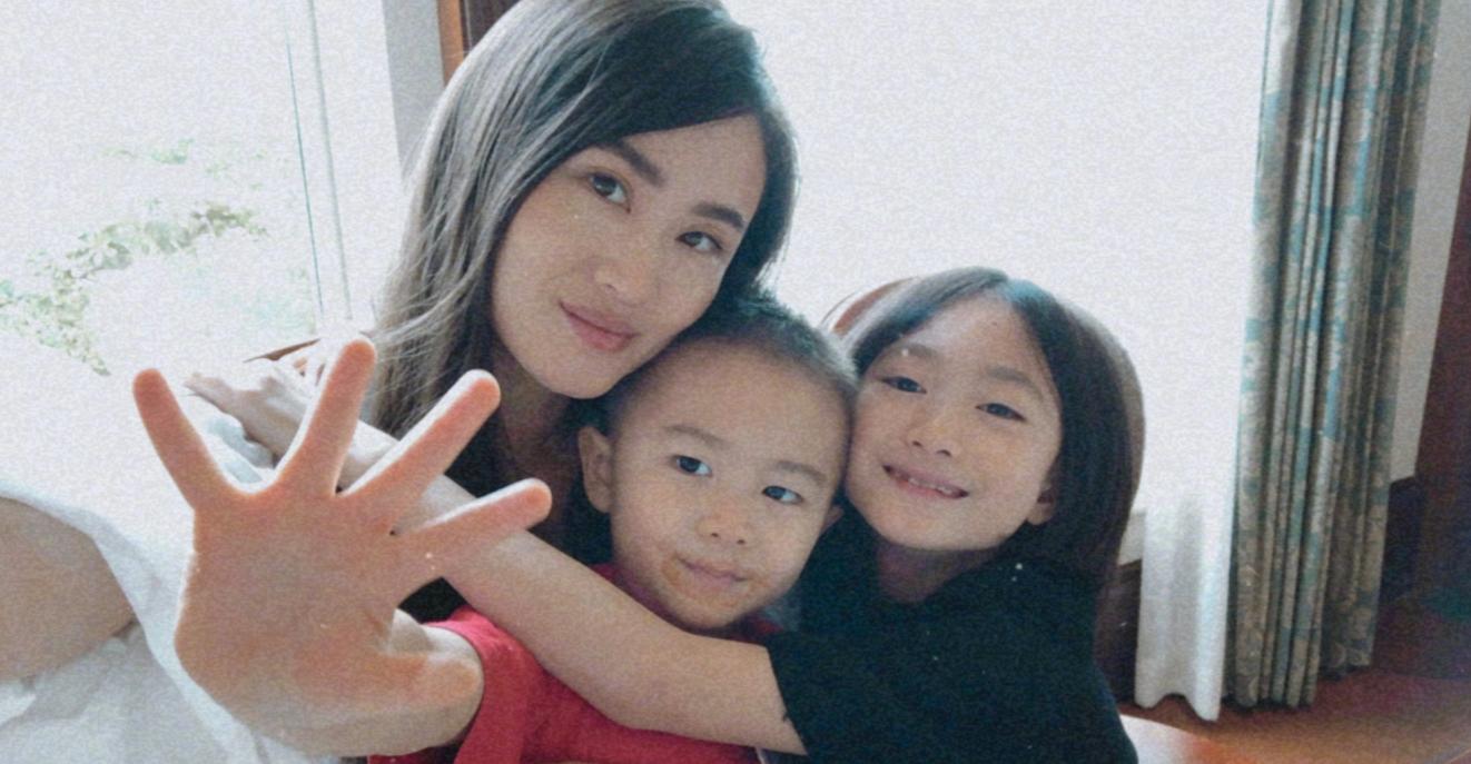 李小鵬為妻子慶生,李安琪與兒女齊出鏡,個個顏值在線