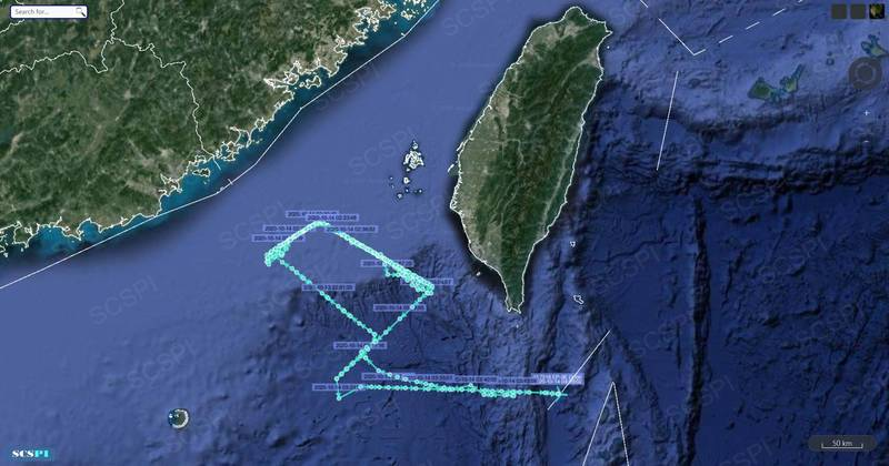 """美军机深夜出没于台湾西南部空域,""""神秘四边形""""绕圈6小时"""