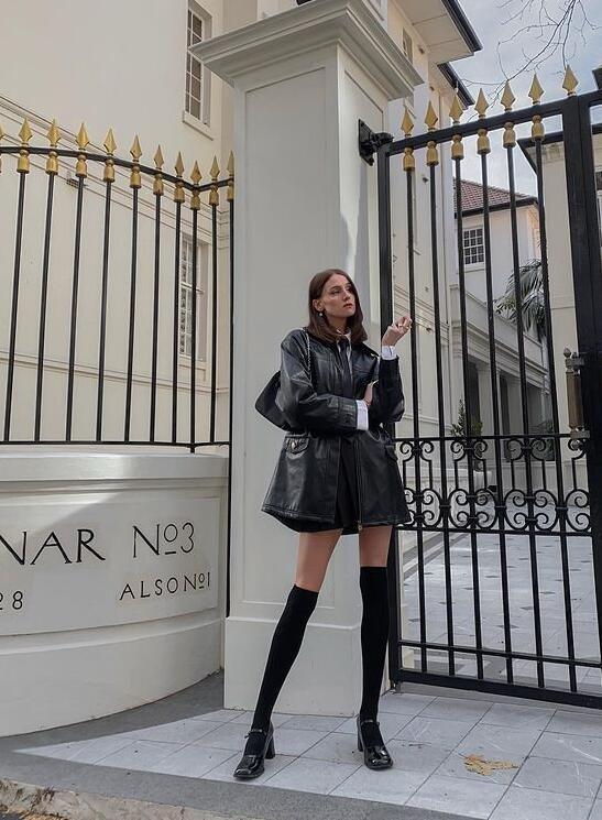 倫敦時尚博主CaitlinReid黑與白的極簡色彩演繹高級感