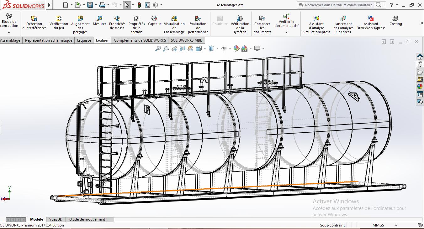 100立方多功能工业罐模型3D图纸 STEP格式