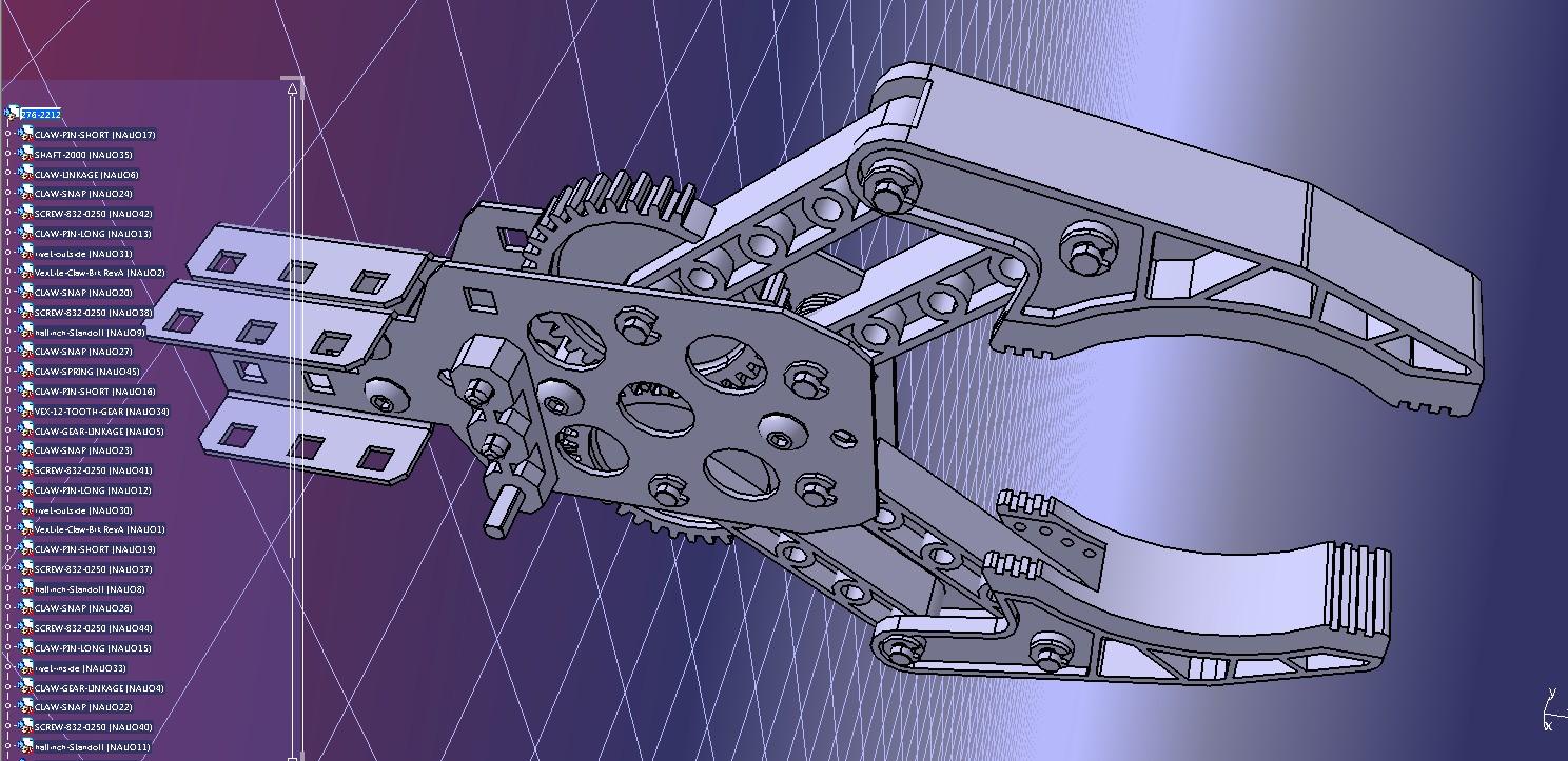 Claw Kit机械爪末端夹爪结构3D图纸 STEP格式