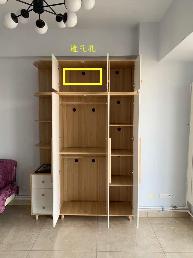 不想你家衣柜发霉的话,叫木工一定要做上这个,没有的话即可返工