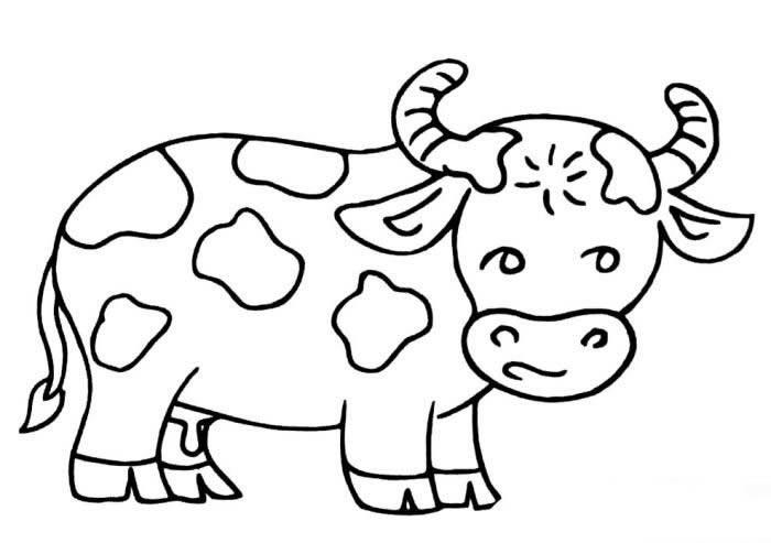 可爱的小牛简笔画