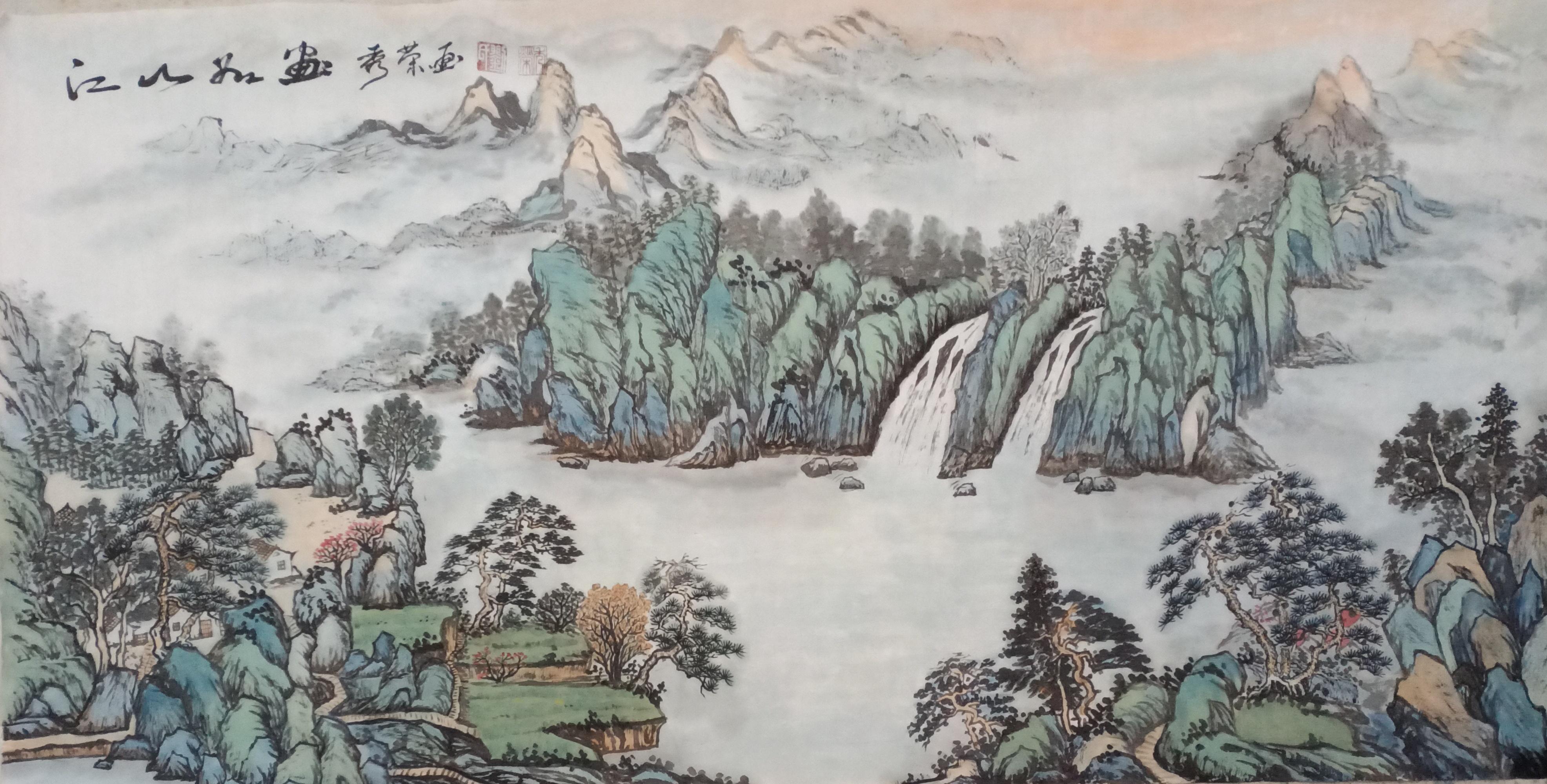 画家刘秀荣2021迎春作品展