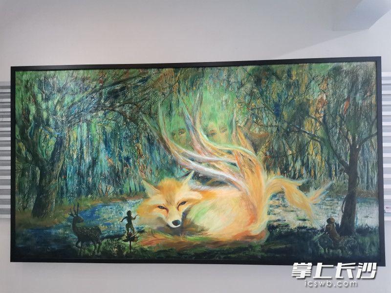 """""""九道湾""""油画展开幕,唐樱、林子集等9位女作家共绘浏阳河"""