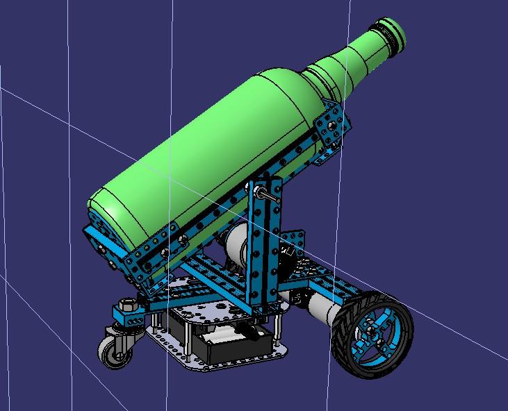 倒酒机器人玩具小车模型3D图纸 STEP格式