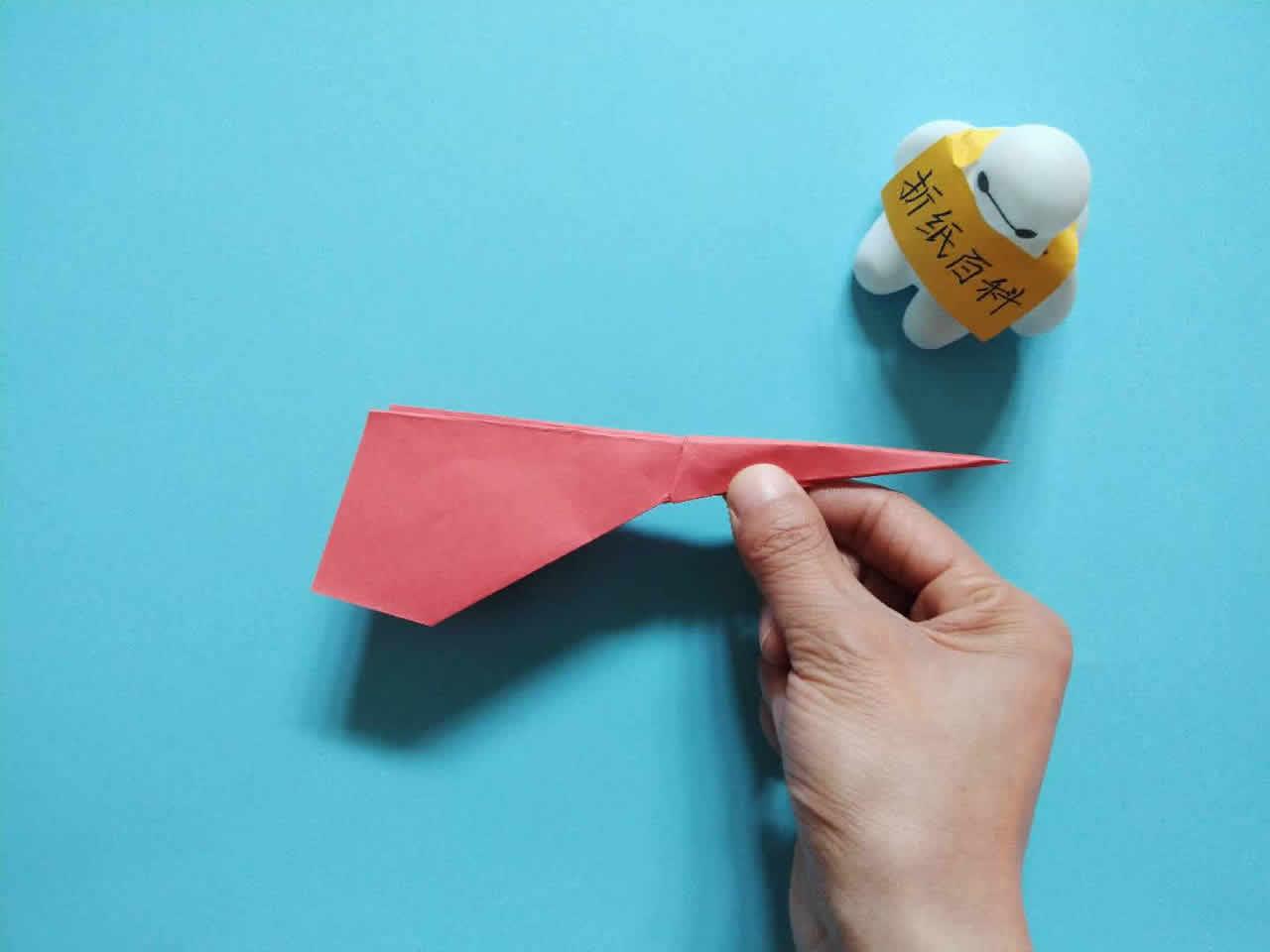 能飞得很远的折纸飞机,简单几步就做好,手工DIY折纸图解教程 家务妙招 第8张