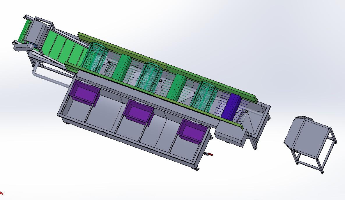 食品豆芽清洗机3D模型图纸 Solidworks设计 附STEP