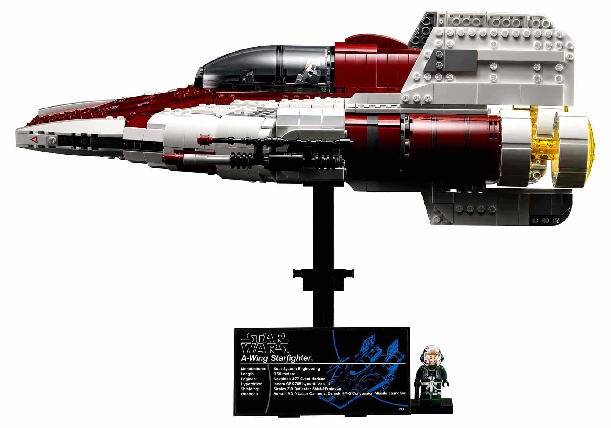 乐高 星球大战UCS又添新成员 75275 A翼星际战斗机