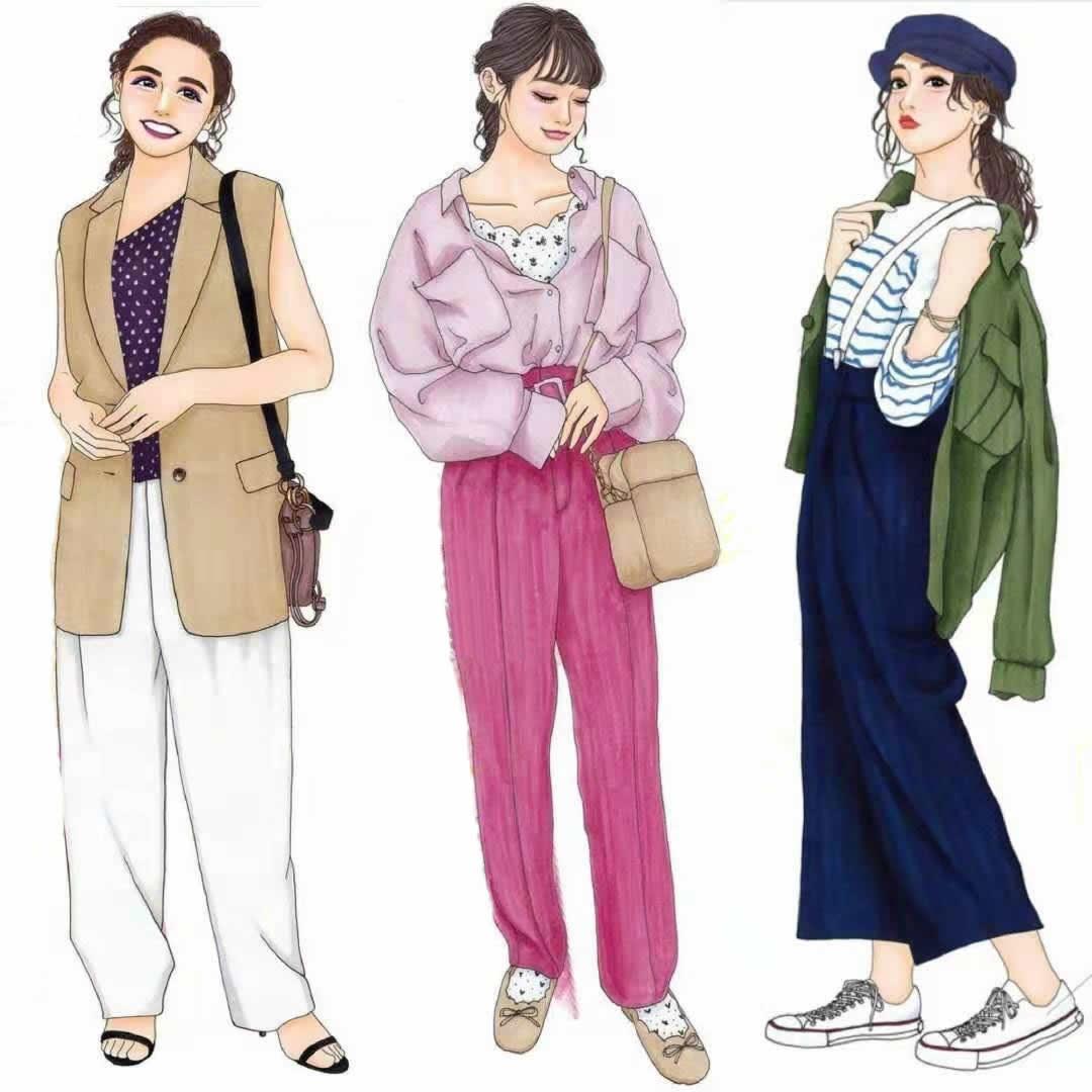 """服了,日本插画师的""""手绘配色""""真美,27套早春穿搭,画尽精髓"""