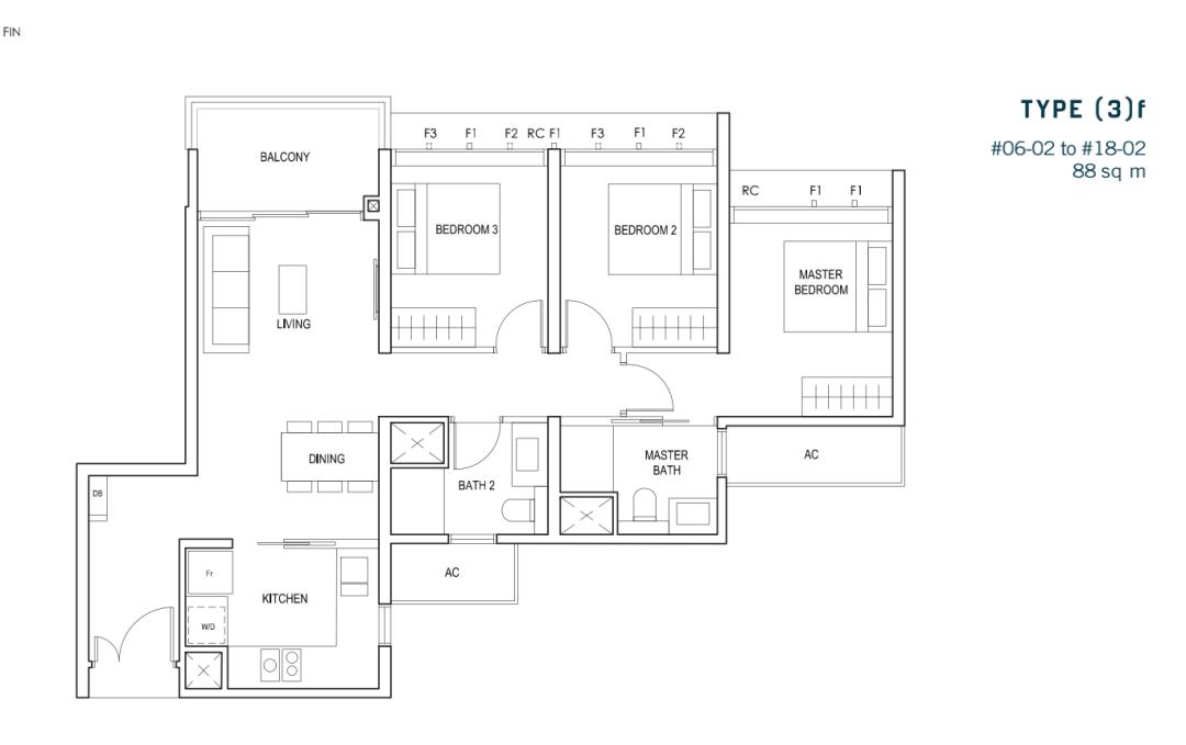 新加坡近市区近地铁站优质低价好盘丨Penrose 公寓