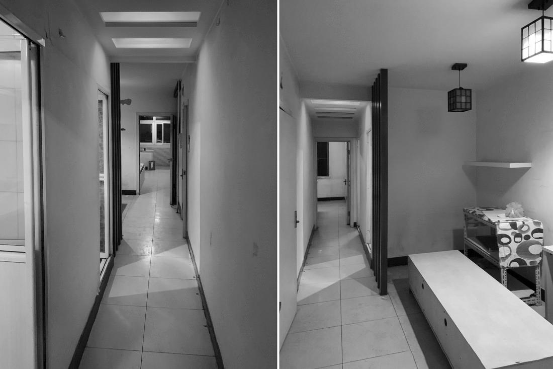 套内仅40㎡装出两房一厅,功能一样不少,精致实用,令人很羡慕