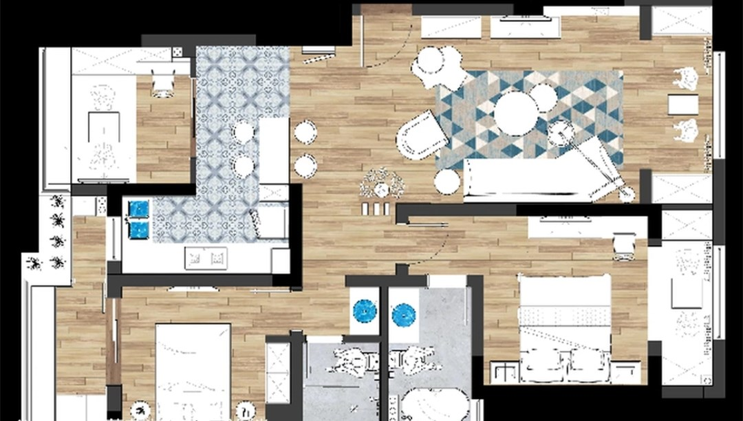 小夫妻买98㎡两居室,花8万块爆改三室一厅,宽敞舒适超温馨