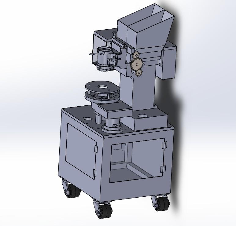 自动喷丸成型机3D数模图纸 Solidworks设计