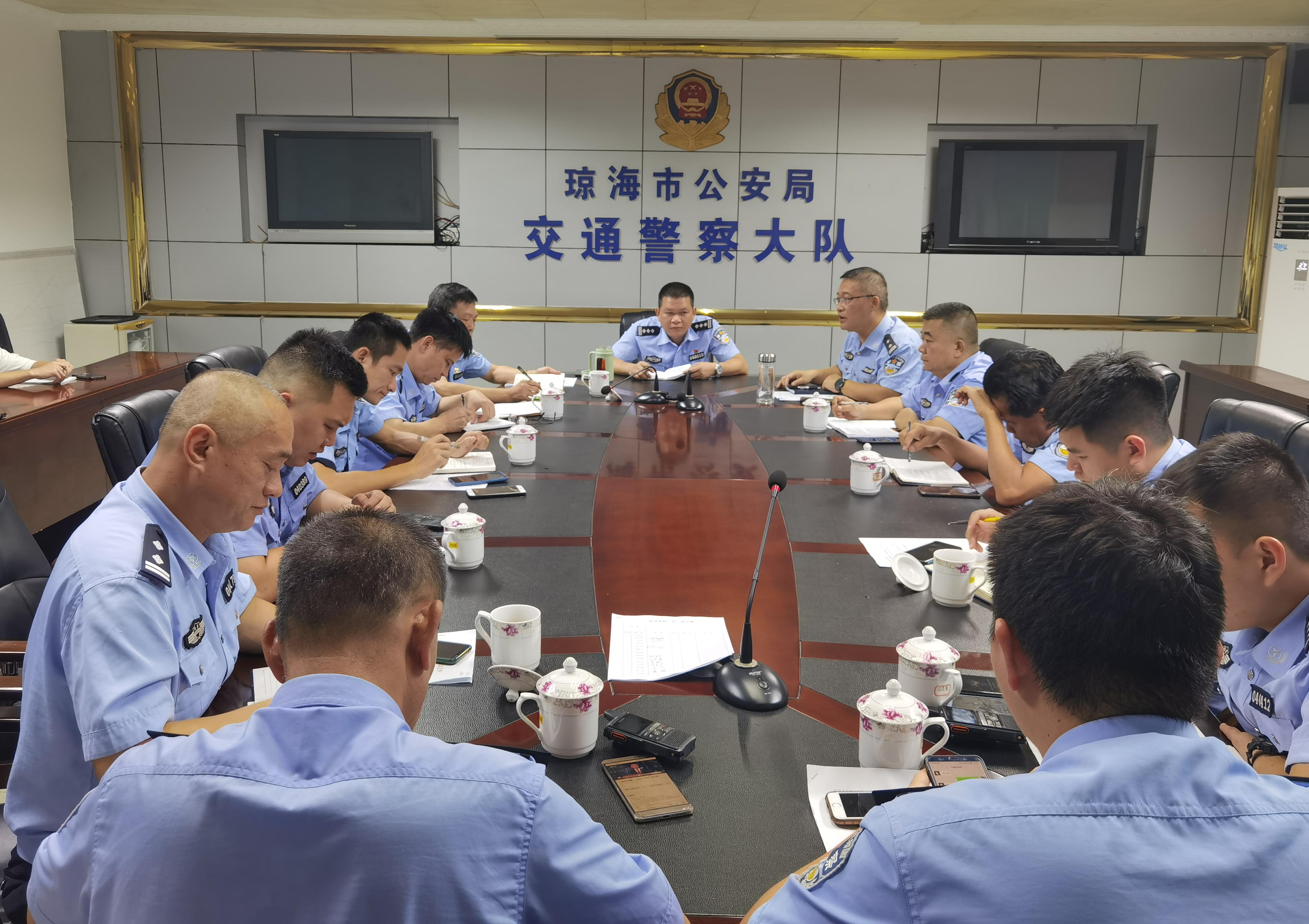 """【台风""""狮子山""""即将登陆海南丨琼海交警提前部署应急预案】"""