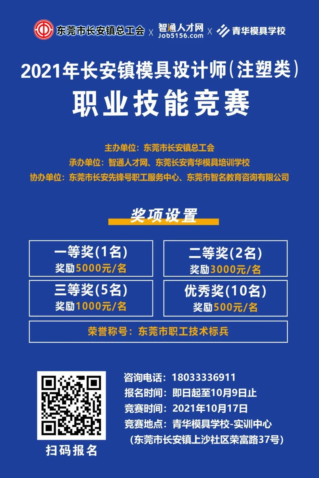 @长安职工,模具设计师(注塑类)职业技能竞赛报名啦