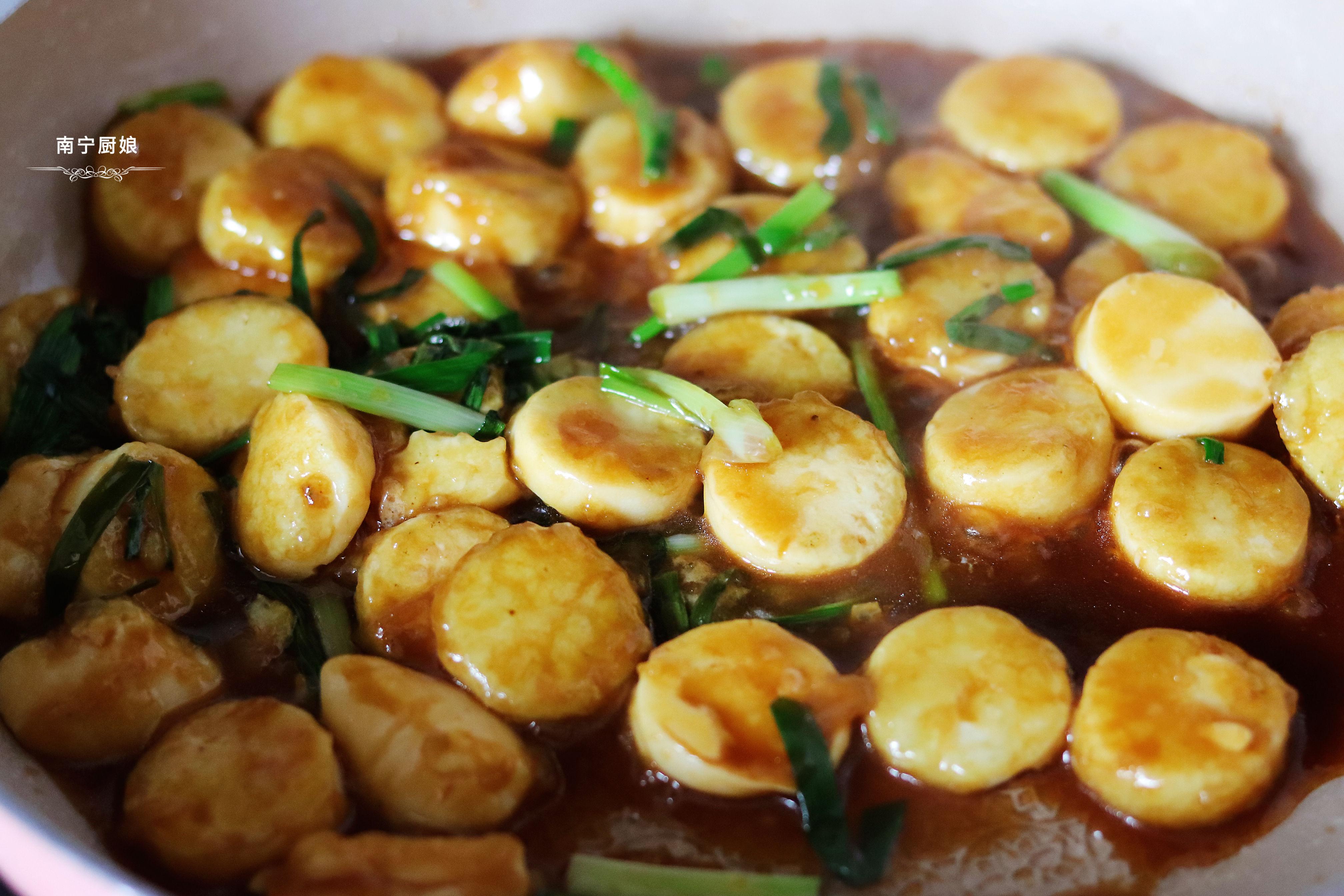 燒日本豆腐時加入一把蔥,沒想到如此美味,不愧是老保姆的拿手菜