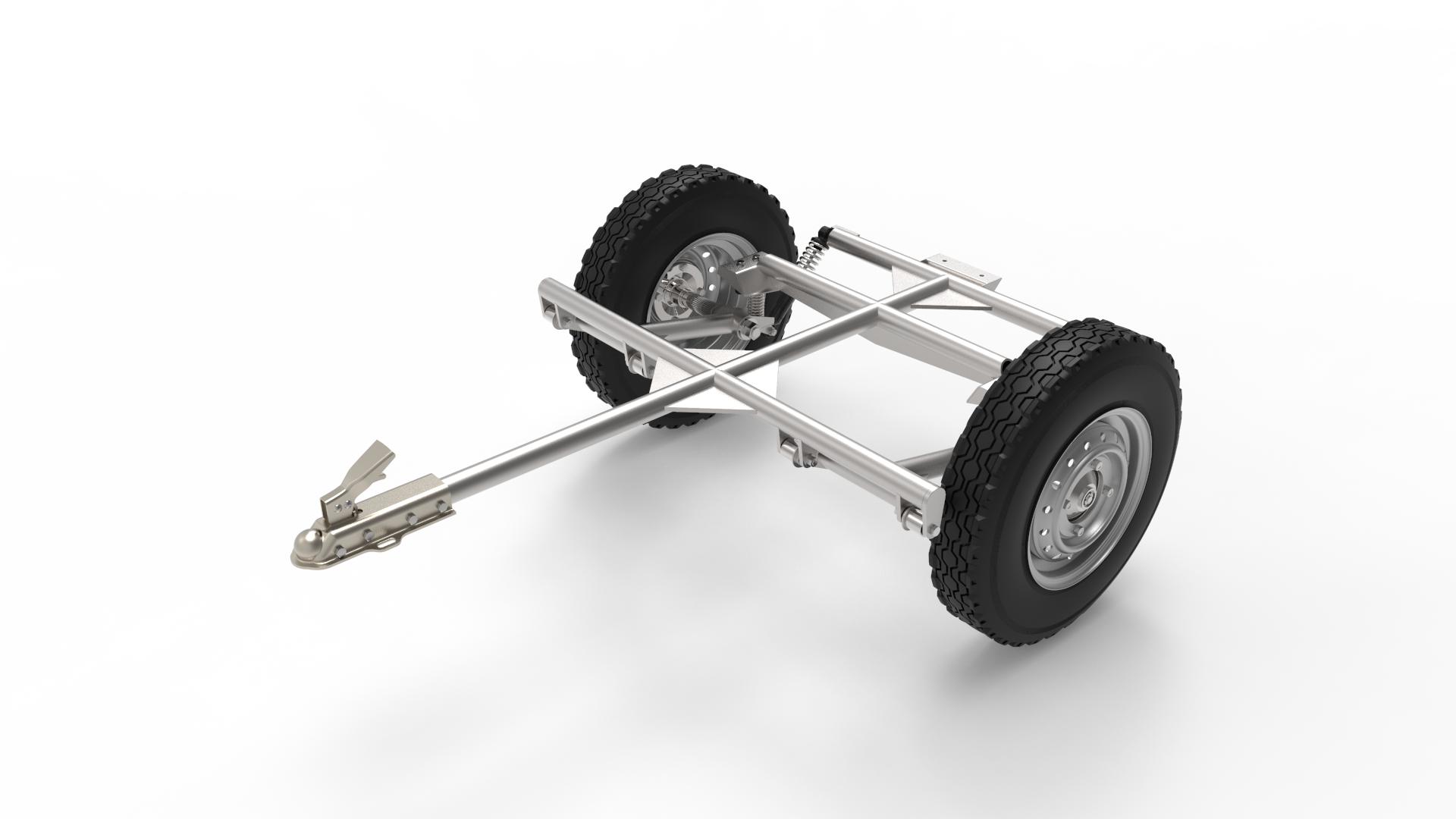 car trailer CT3汽车拖车模型3D图纸 STP格式