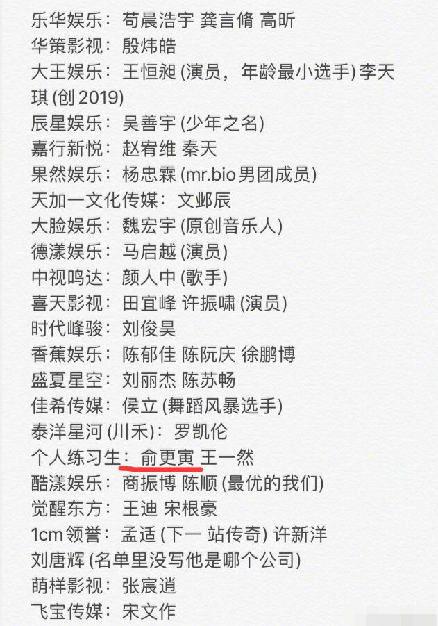 《青3》最新选手名单曝光,关系户回锅肉一把抓,皇族人选已锁定