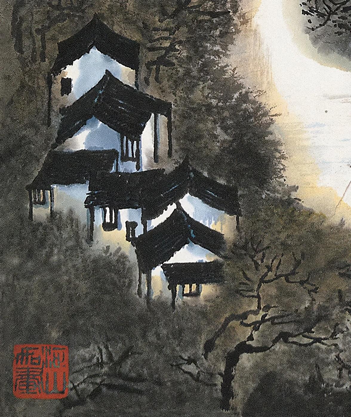 「北京荣宝2021春拍」层峦叠嶂李家山——李可染《江南鱼米之乡》
