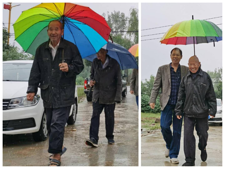唐河县上屯镇:国庆雨中爱相连,温暖扶贫幸福院