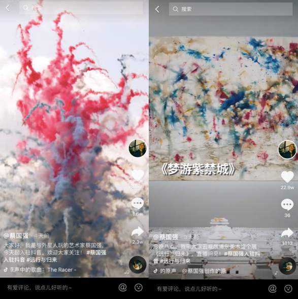 蔡国强抖音直播专访实录:传播和艺术创作