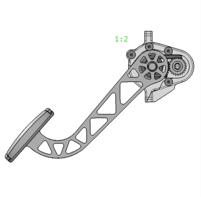 Pedal komplett HRV油门踏板结构3D图纸 STP格式